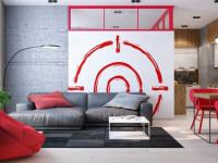 Красный цвет в интерьере: примеры сочетаний в дизайне современной квартиры (111 фото-идей)