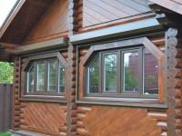Окна в деревянном доме — особенности установки и подгонки под внешний дизайн (70 фото)