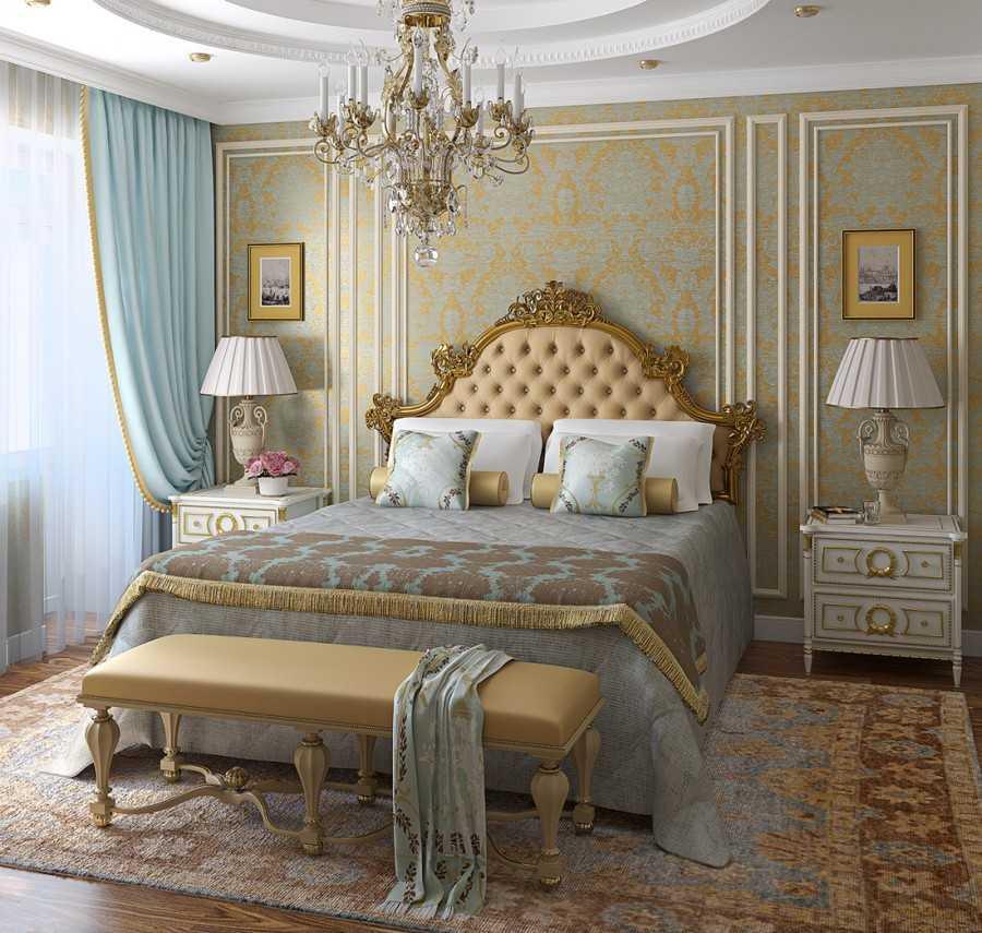 обои спальня дизайн фото 5
